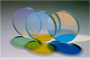 three colored, optic filters